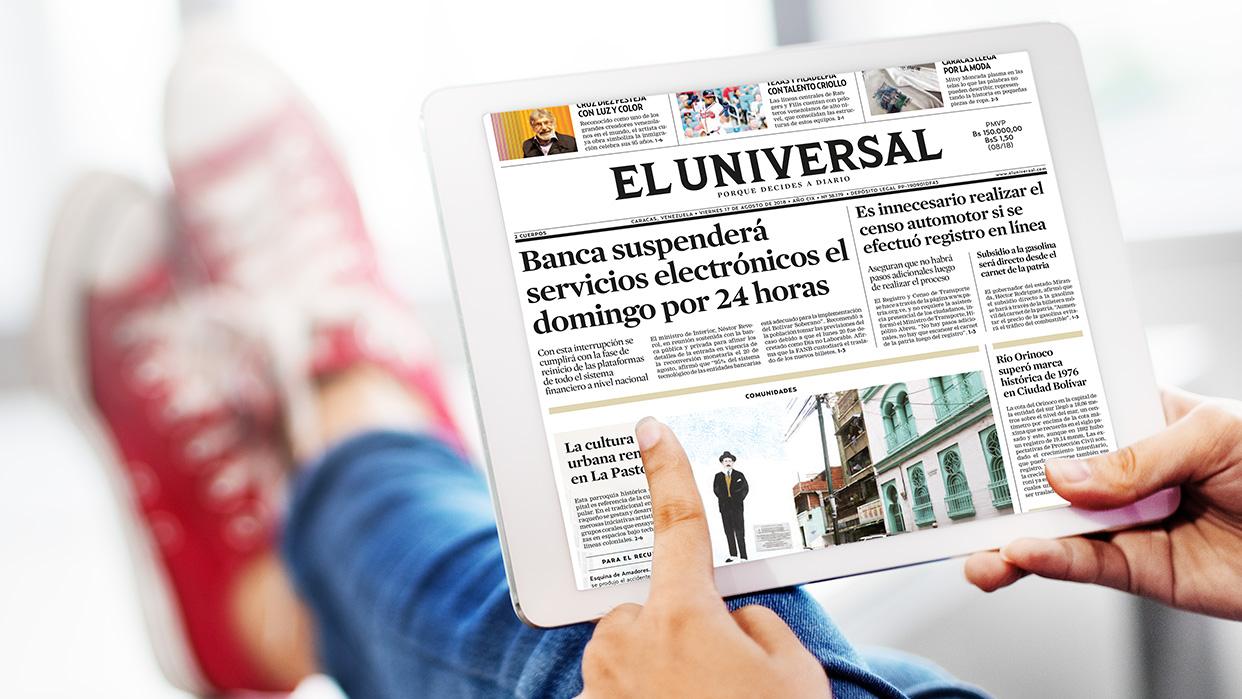 Este sábado El Universal te obsequia su edición digital
