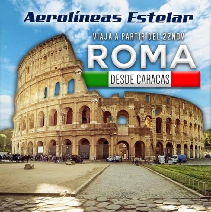 Estelar viaja a Roma
