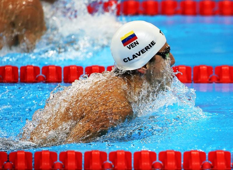 Claverie, Pinto y Quintero participaron en la tercera jornada del Mundial de Natación