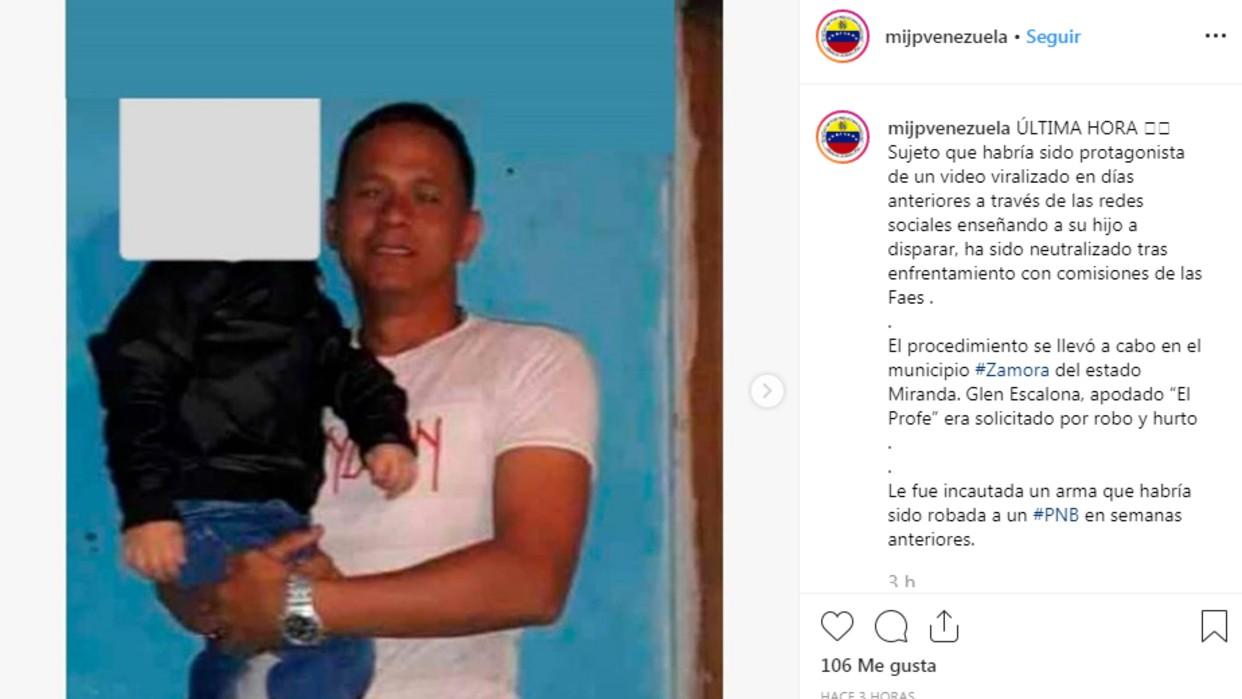 FAES mata a hombre que viralizó video de su hijo amenazando a policías