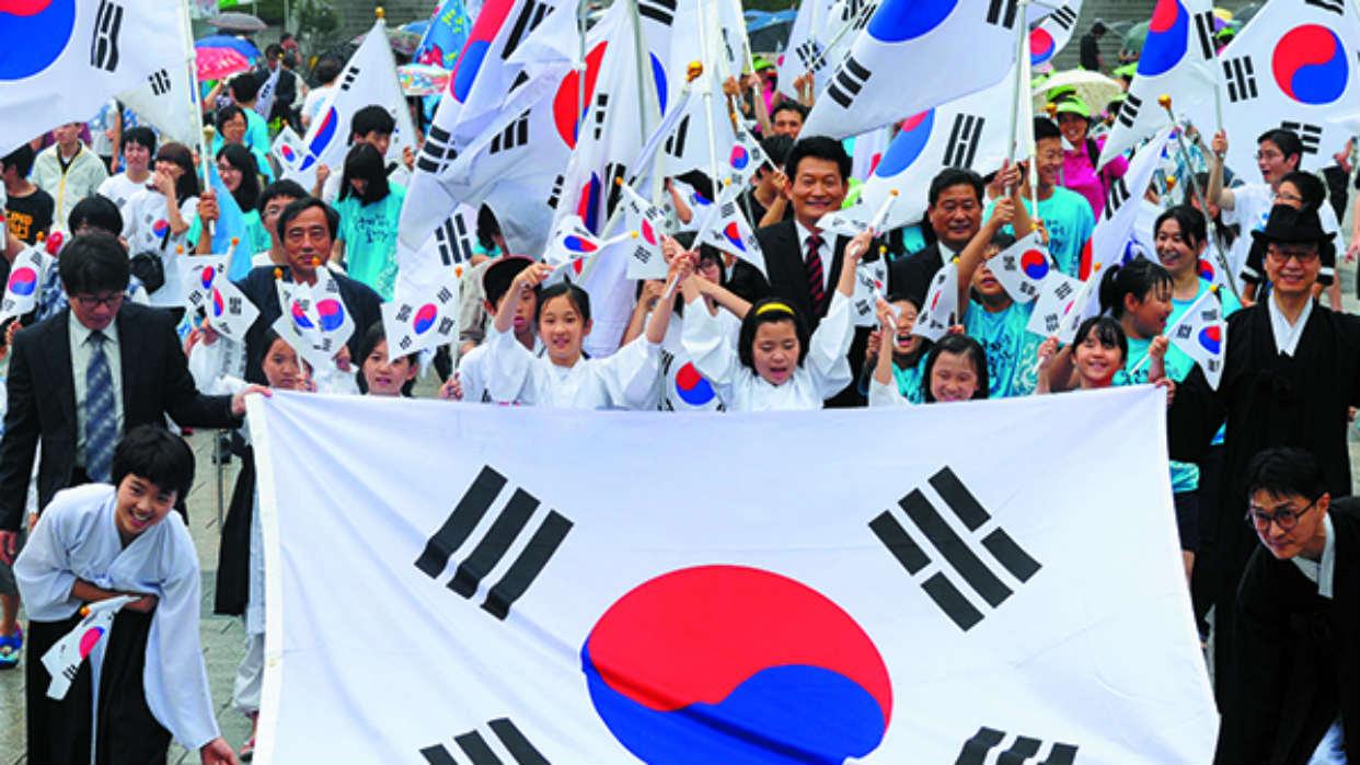 Corea del Sur festeja el 74° aniversario de su liberación de Japón