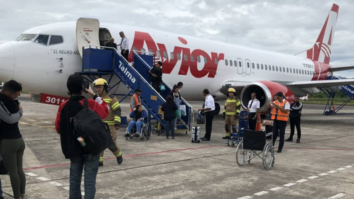 Avión venezolano debió hacer aterrizaje de emergencia en Perú