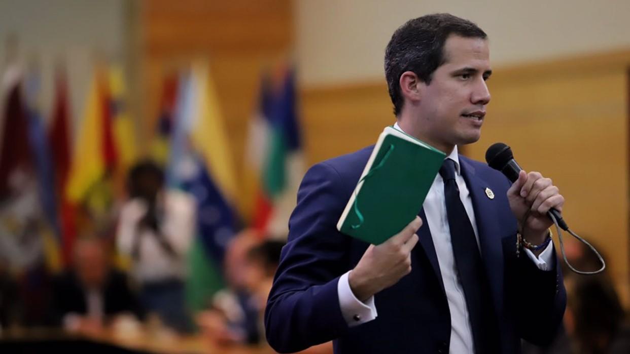 """Juan Guaidó desde Bruselas: Debemos avanzar con sanciones y calificar el oro venezolano como """"oro de sangre"""""""