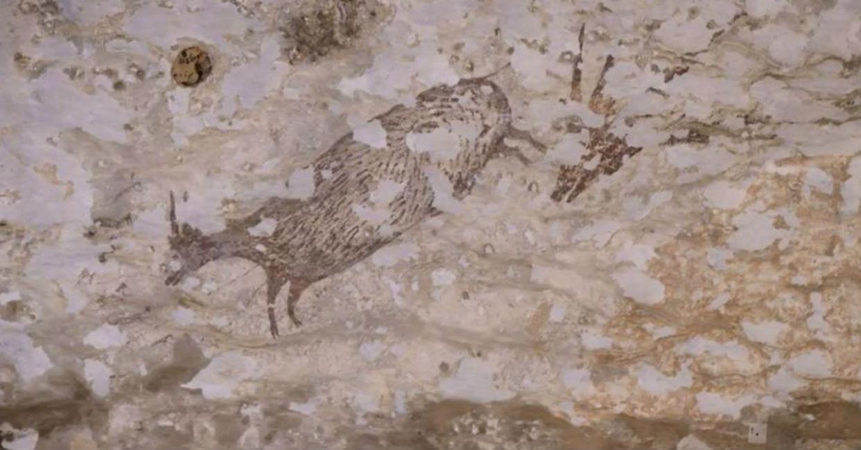 Pintura rupestre de 44.000 años descubierta en Indonesia