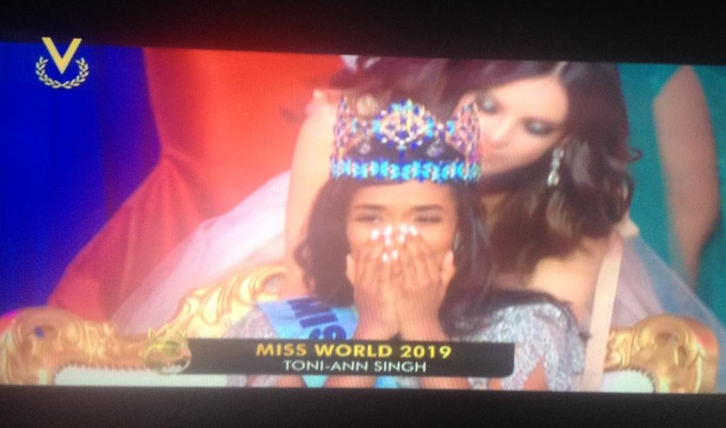 La belleza negra de Toni-Ann Singh se impuso en el Miss Mundo 2019