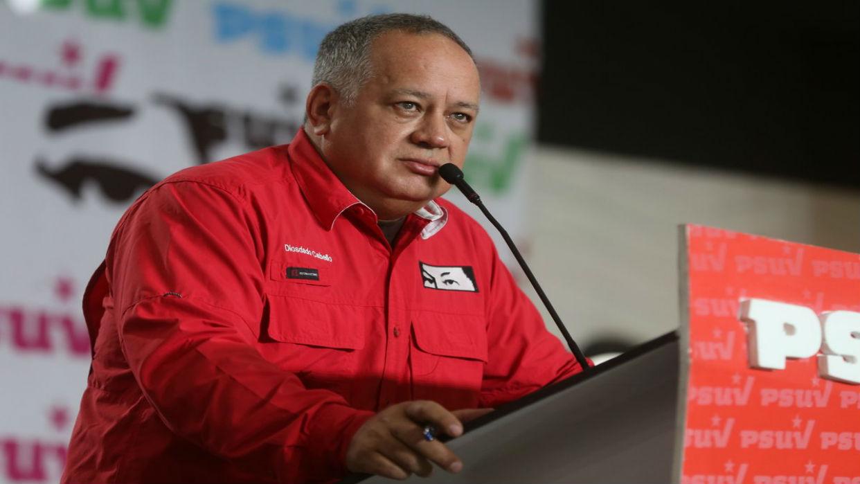 Cabello: Más del 50% de los encuestados favorecen al chavismo