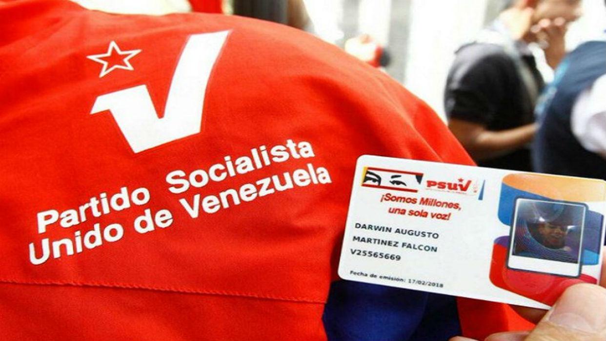 Hoy finaliza jornada de carnetización del PSUV en todo el país