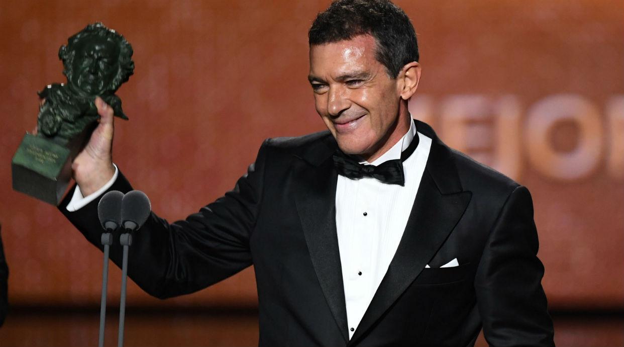 Antonio Banderas recibe el goya al mejor actor por
