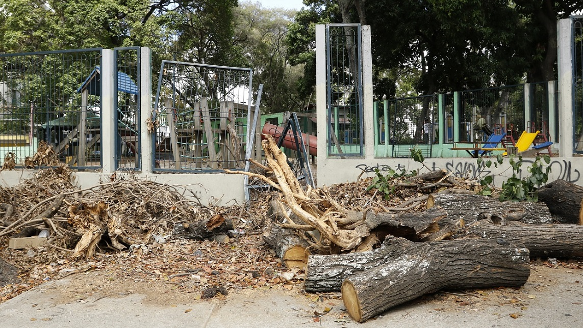 Denuncian abandono en tres plazas de la capital