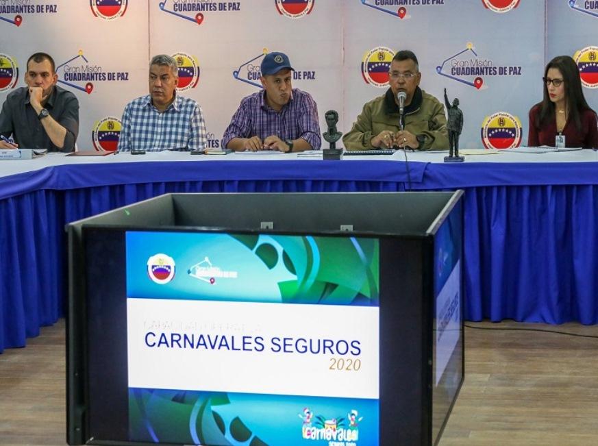 Este jueves inicia Operativo Carnavales Seguros 2020