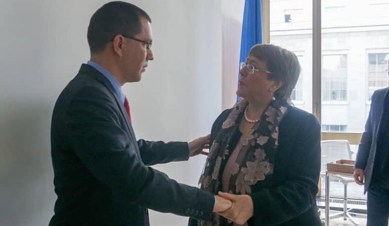 Cancillería venezolana sostuvo encuentro con Bachelet en Ginebra