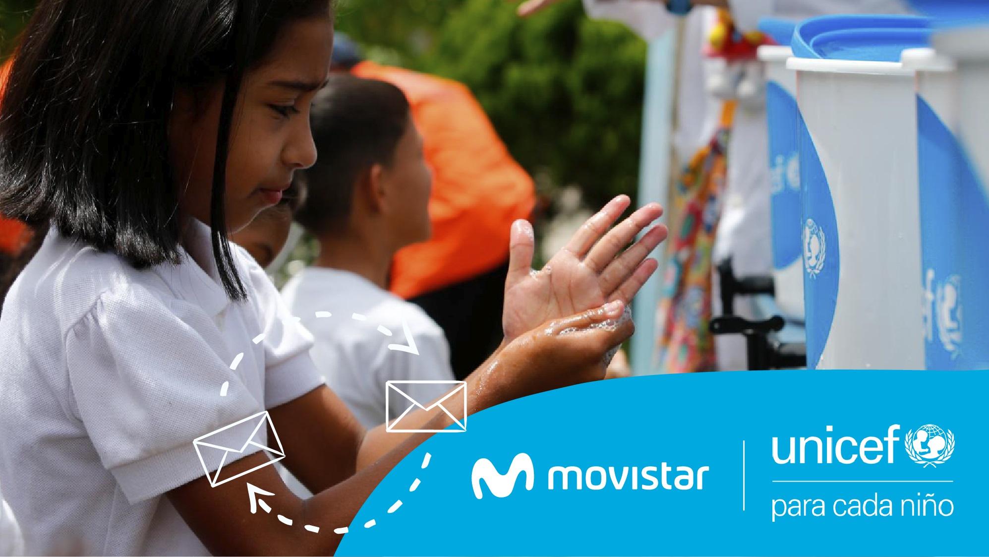 UNICEF y Movistar unen esfuerzos para la prevención del coronavirus en Venezuela