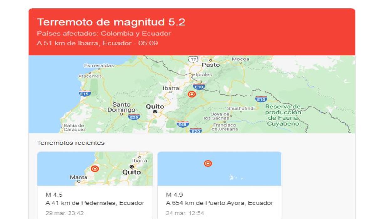 Sismo de magnitud 5,2 despertó muy temprano a Ecuador