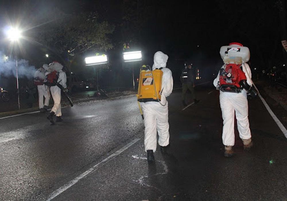 Continúa jornada de desinfección nocturna en el municipio Baruta