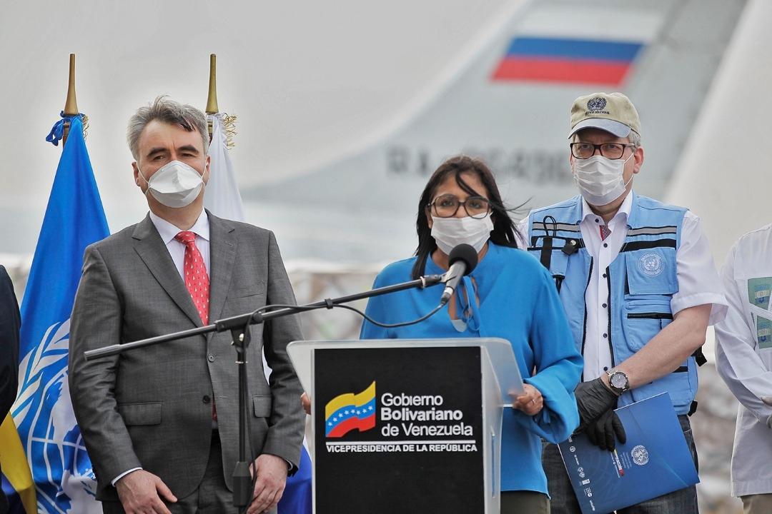 Rodríguez recibió más de 90 toneladas de ayuda humanitaria para enfrentar crisis sanitaria