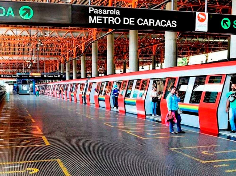 Entre cinco o siete trenes operan los fines de semana en el Metro de Caracas