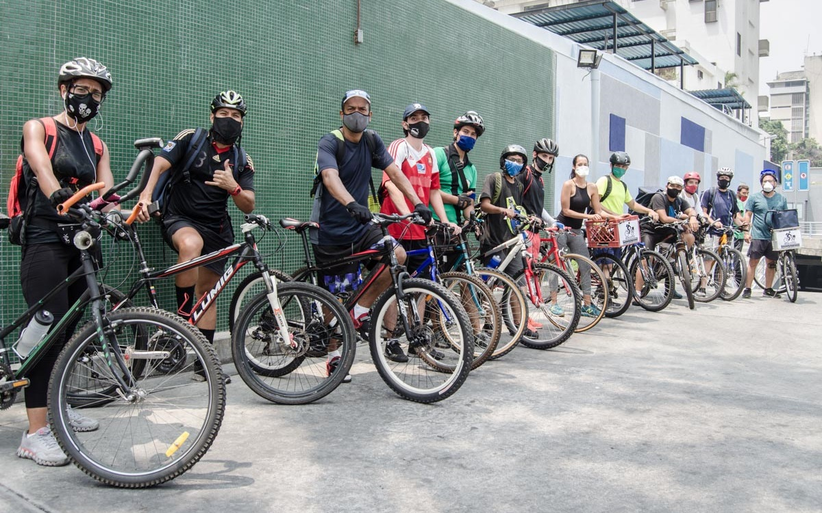 El delivery en bicicleta como opción para los trabajadores