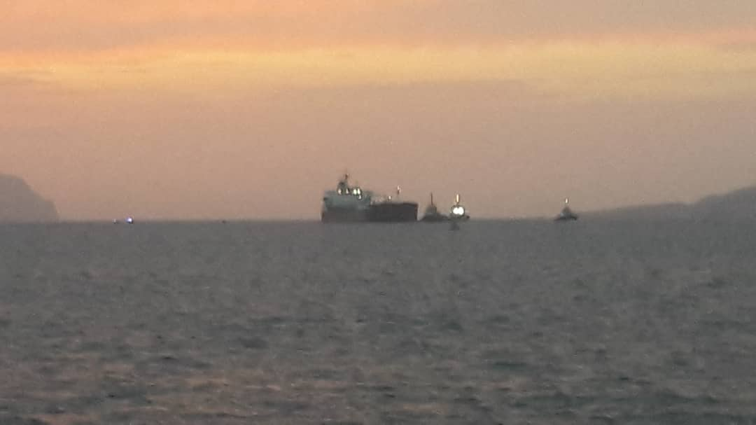 Buque iraní Faxon comenzó a descargar anoche gasolina en muelle de Guaraguao