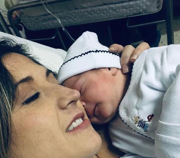 Aisha Stambouli da a luz a su primer bebé, hijo de Alberto Kauam