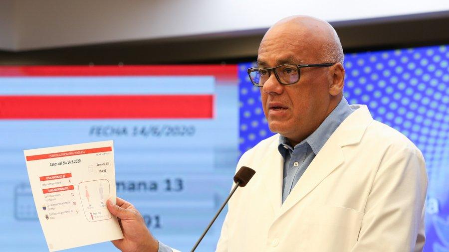 Jorge Rodríguez confirma 282 casos  y 3 fallecidos por emergencia sanitaria en el país