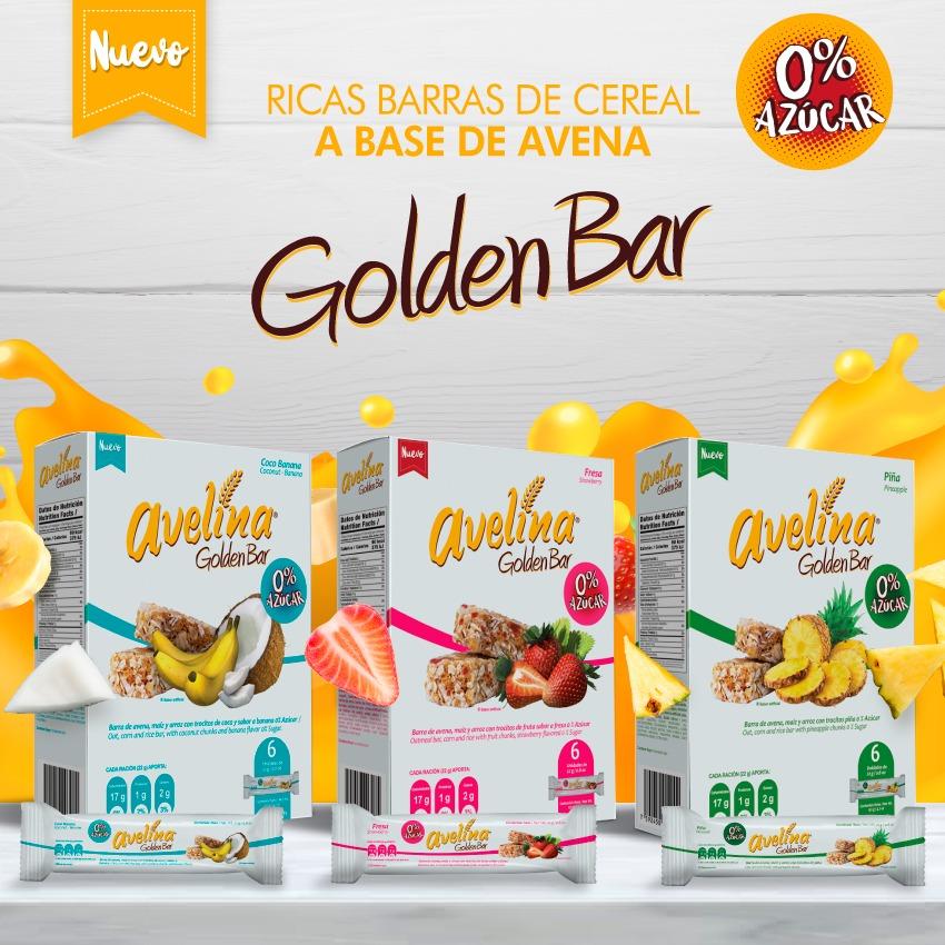 Las nuevas Golden Bar 0% azúcar de Avelina