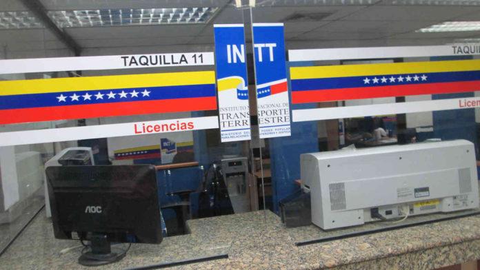 INTT actualizó tarifas de trámites vehículares