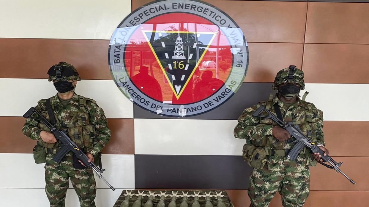 Colombia halla armamento presuntamente de Venezuela en poder de rebeldes