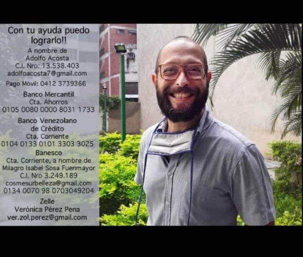 Adolfo Acosta, fotoperiodista de El Universal requiere ayuda