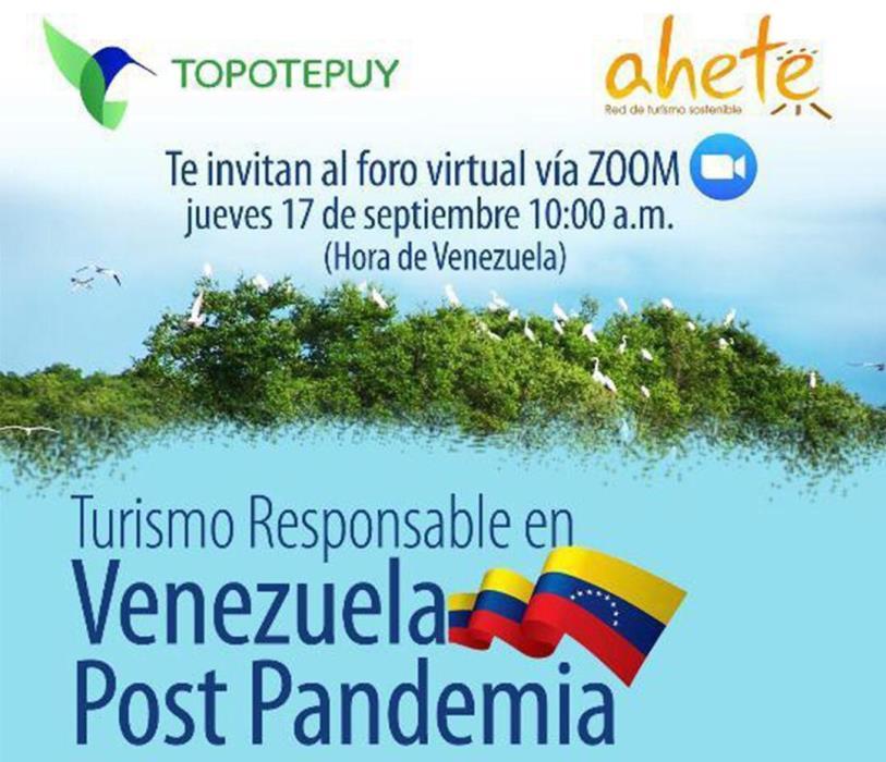 Foro virtual para hablar de turismo responsable post pandemia