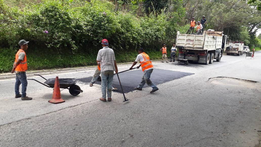 Más de 22.200 huecos fueron tapados en el municipio El Hatillo