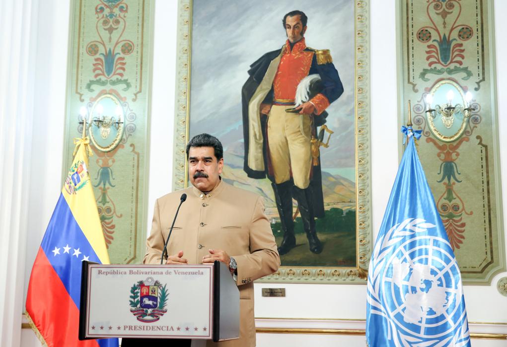 Maduro llama a la ONU a derrotar un mundo
