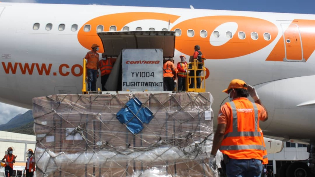 15 toneladas de insumos médicos arribaron este martes a Venezuela procedentes de China