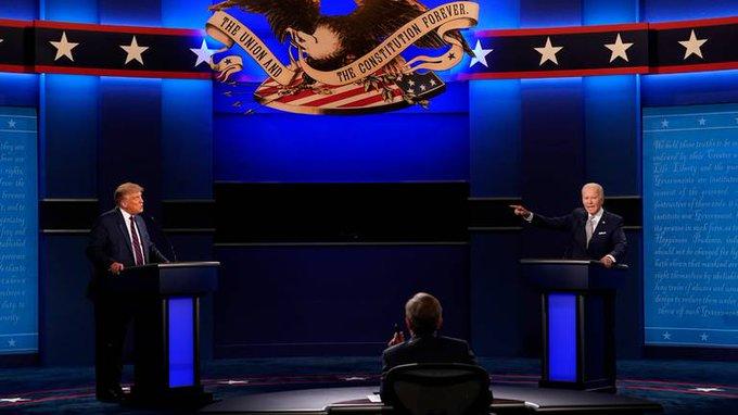 Encuestas de cadenas estadounidenses dan triunfo a Joe Biden en primer debate de la campaña