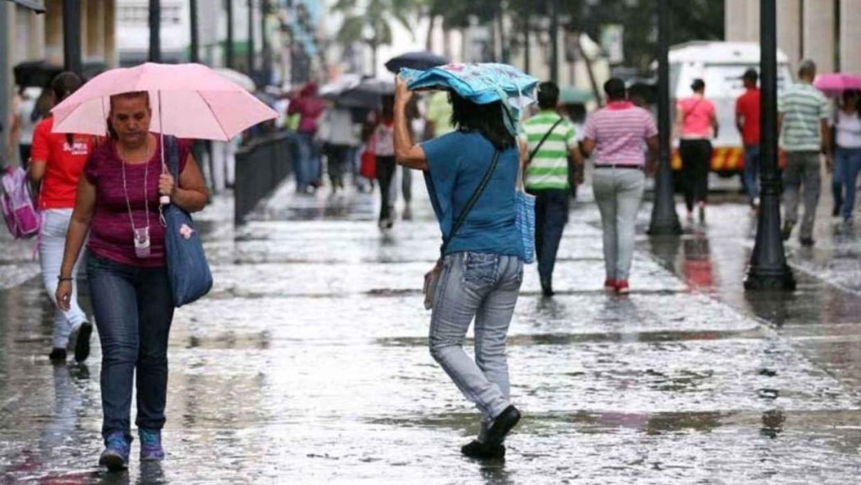 Precipitaciones vespertinas en algunas zonas del país prevé Inameh para este lunes