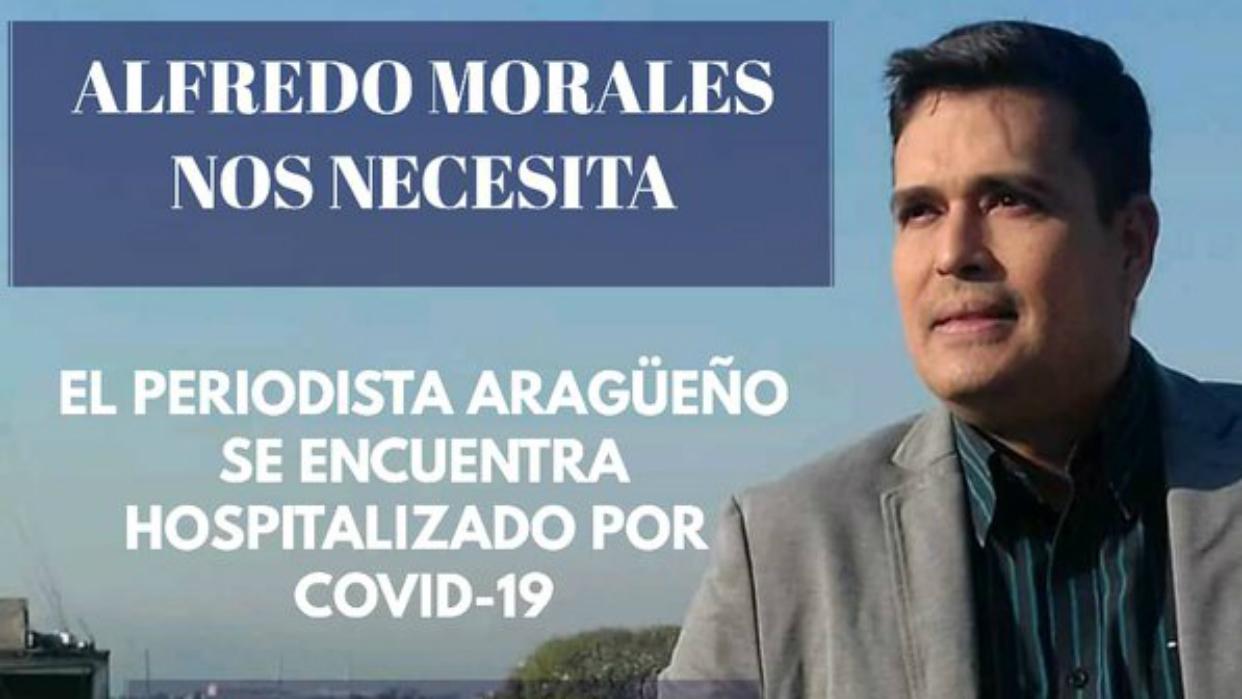 El periodista Alfredo Morales necesita ayuda económica para costear su hospitalización por Covid-19
