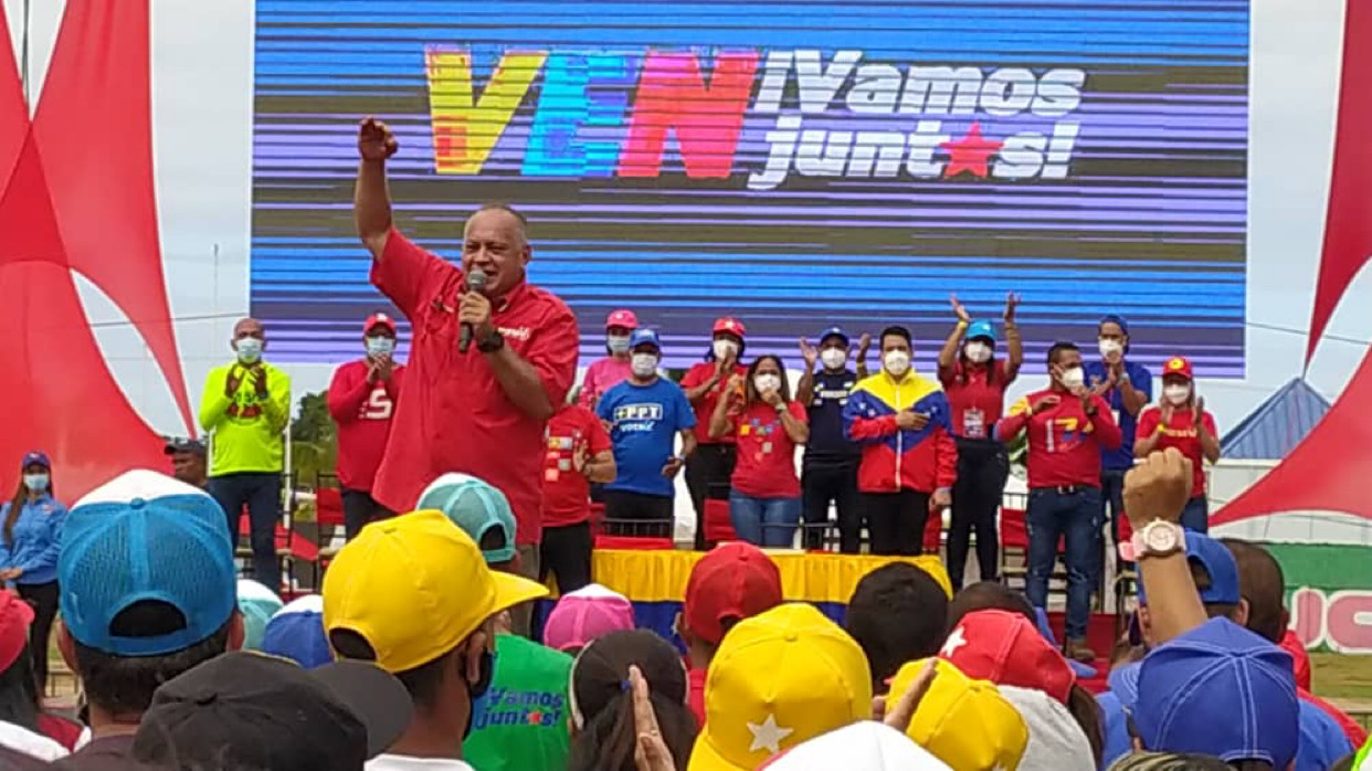Cabello reitera desde Carúpano propuesta de ley para sancionar a los integrantes de la actual AN