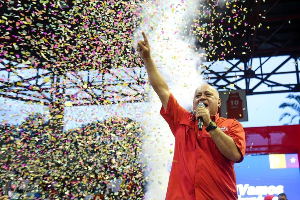 Diosdado Cabello invita al pueblo a votar con disciplina y compromiso el 6D