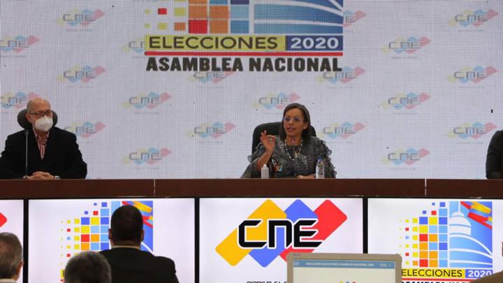 Presidenta del Poder Electoral resalta logro inédito de efectuar elecciones en medio de una pandemia
