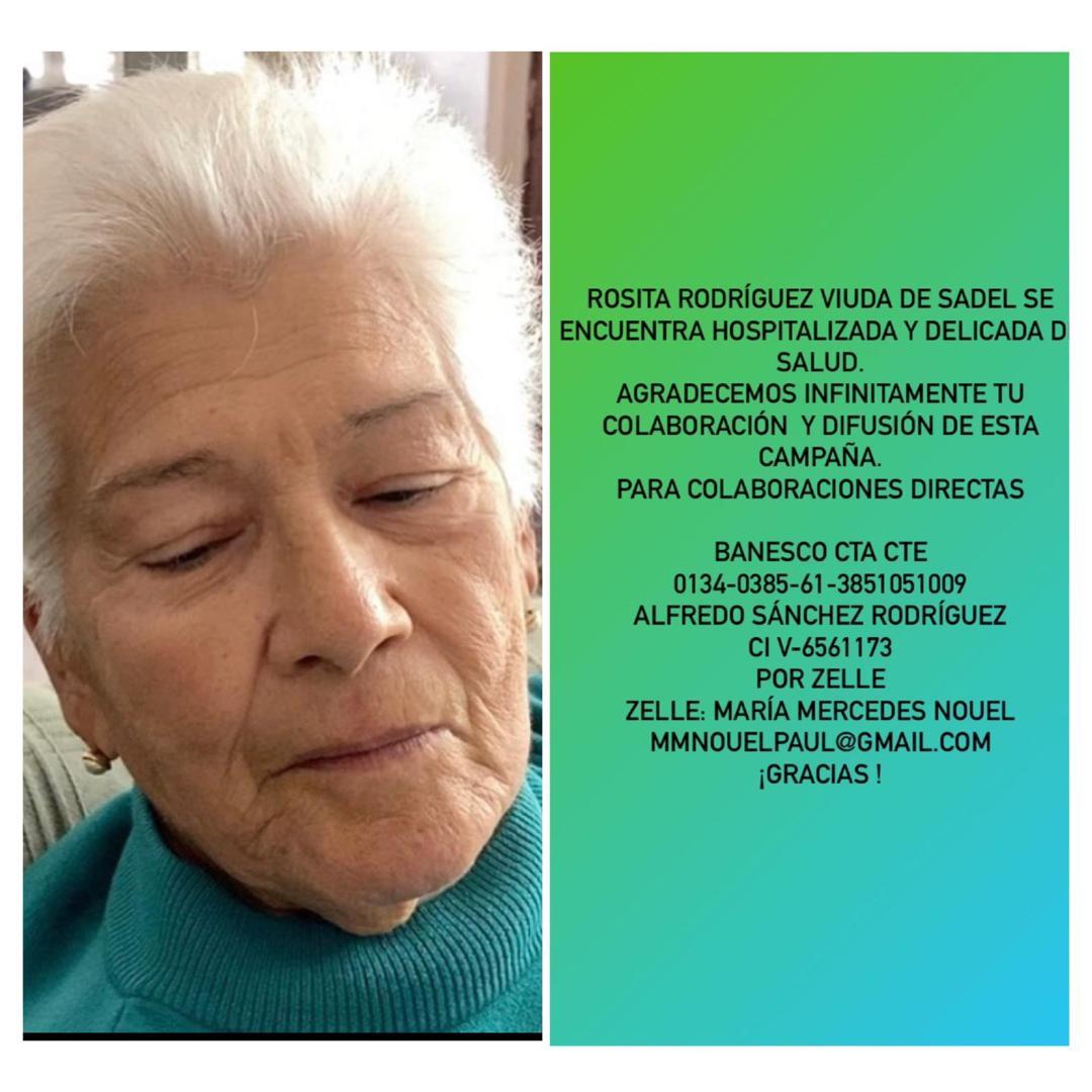 Rosita Rodr U00edguez Necesita De Nuestra Ayuda