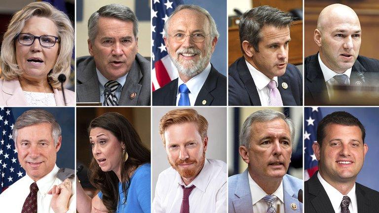 Quiénes son los 10 republicanos que apoyaron el