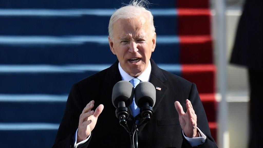 Joe Biden al jurar como el 46º presidente de EEUU: