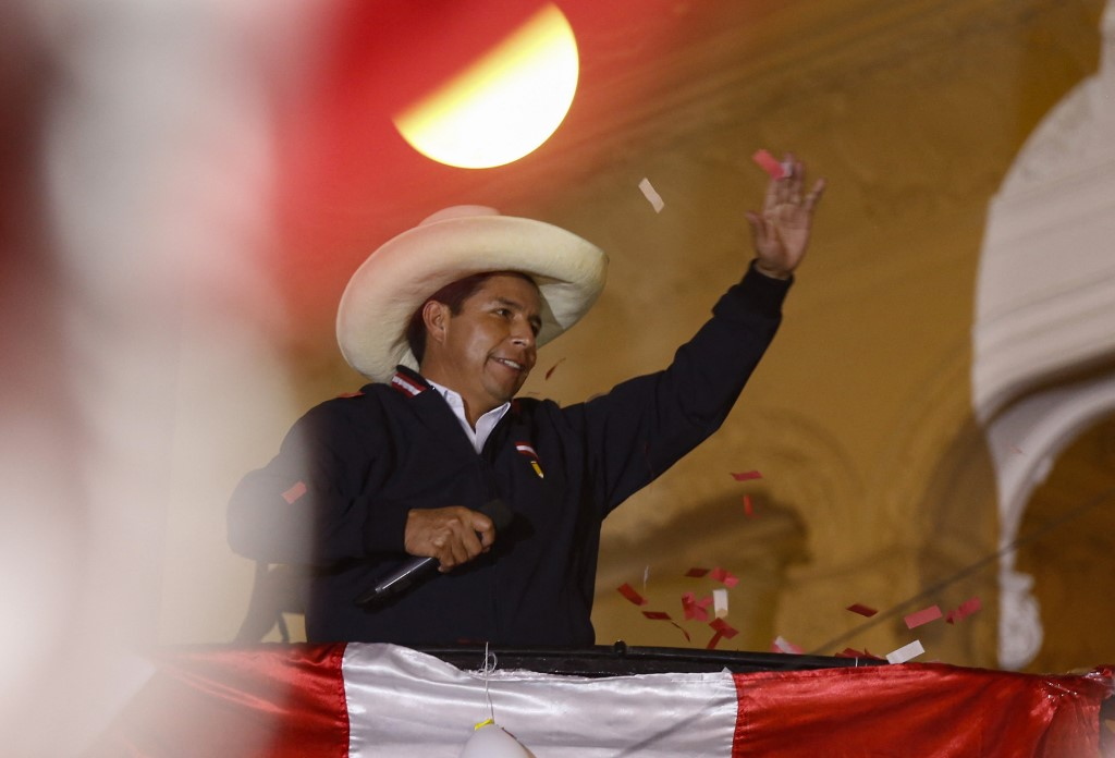 Izquierdista Castillo rechaza llamados a anular las elecciones de Perú