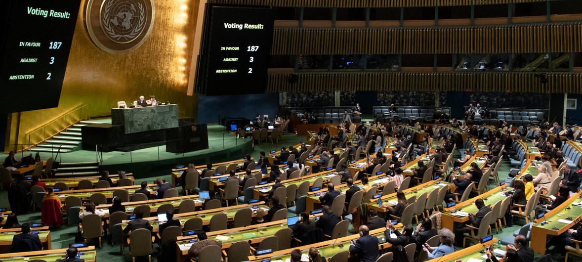 La ONU condena por 29º vez el embargo de EEUU contra Cuba por abrumadora mayoría