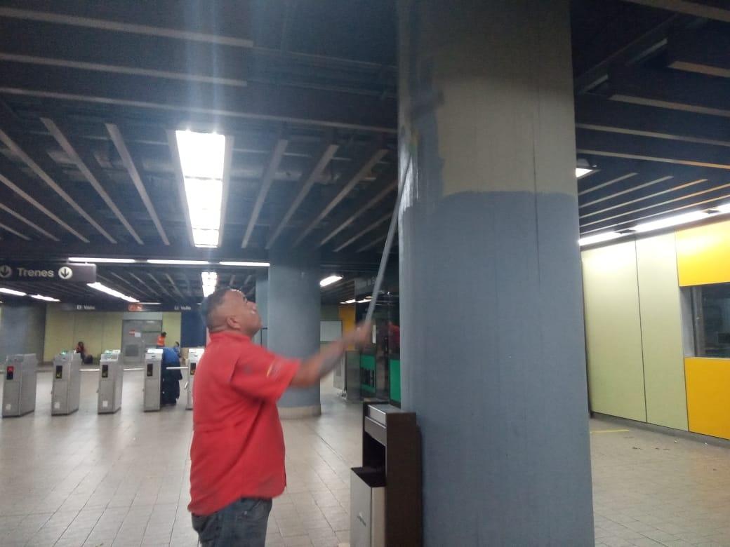 Misión Transporte recupera estación el valle del metro de Caracas