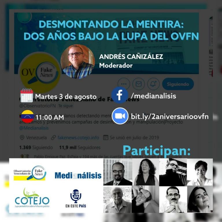 Observatorio Venezolano de Fake News celebra dos años desmontando la mentira