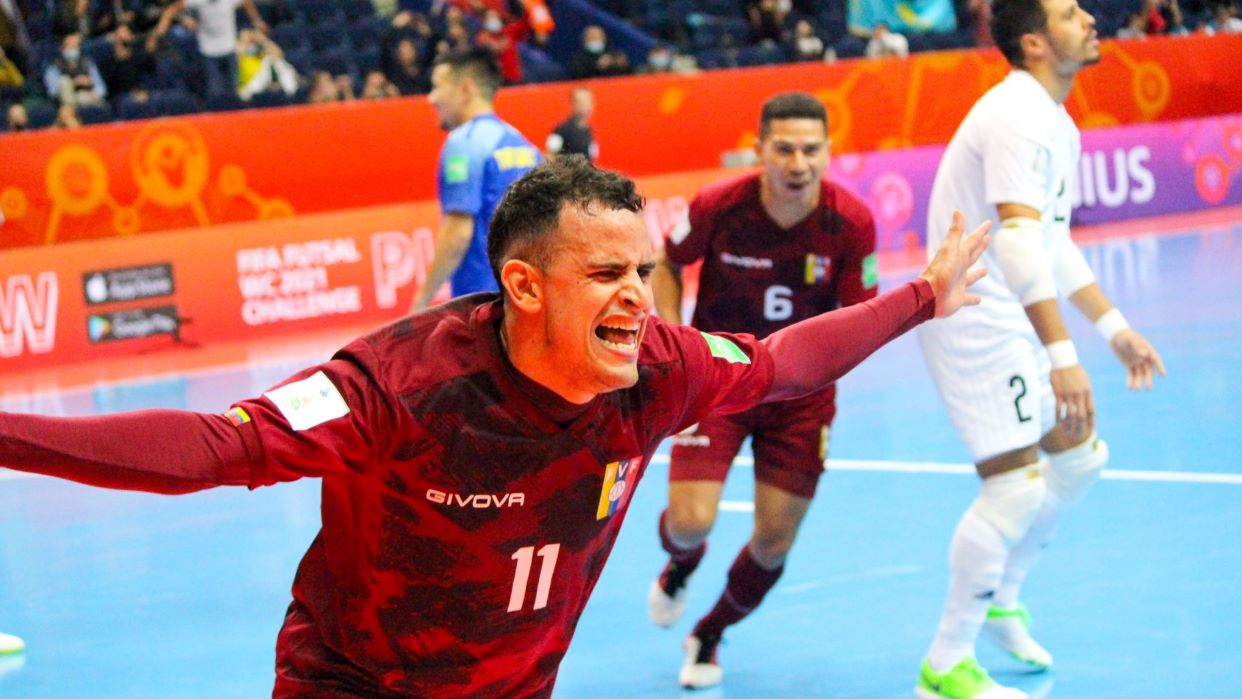 La Vinotino de fútbol sala empata contra Kazajistán y avanza como segunda del Grupo A