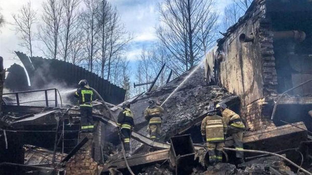Quince muertos en incendio de una fábrica de explosivos de Rusia